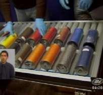 Policía detectó droga oculta en carretes de hilo