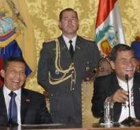 Correa y Humala se reunirán en el mes de febrero