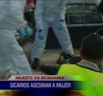 Mujer asesinada sería el primer caso de sicariato en Riobamba