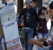 Correa y representantes de El Universo fueron a audiencia, pese a su suspensión