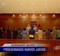 Jueces para Quito son posesionados dentro de reestructuración judicial