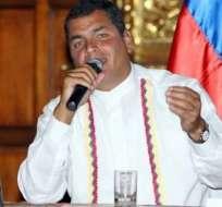 Correa señala no estar de acuerdo con asilo concedido a Carlos Pérez