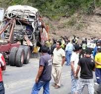 Accidente de tránsito deja 29 muertos en la vía Ibarra-San Lorenzo