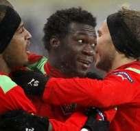 Ecuatoriano Caicedo espera partido de vuelta por Liga Europa