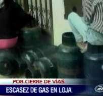 Escasez de gas en Loja provoca aglomeraciones en las distribuidoras