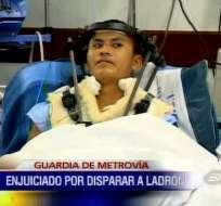 Guardia enfrenta cargo judicial por disparar a delincuente en Metrovía
