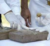 Decomisan más de 200 kilogramos de cocaína con destino a México