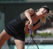 Sharapova arrolla en la primera ronda del Abierto de Francia