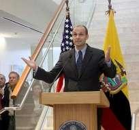 Para esta tarde se espera el arribo del nuevo embajador de EE.UU.
