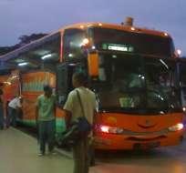 Buses de TransEsmeraldas volvieron a circular