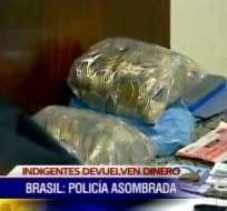 Dos indigentes devuelven 'fortuna' que encontraron en la calle en Brasil