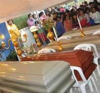 Siete miembros de la familia Toapanta Achachi fueron sepultados