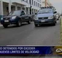 Aumenta el número de sancionados por exceder los límites de velocidad