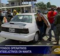 Militares participan en operativos antidelincuenciales en Manta