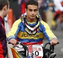 Emilio Falla no logró pasar a semifinales de BMX