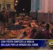 Loja vive su mayor fiesta religiosa, inició vigilia por la Virgen de El Cisne