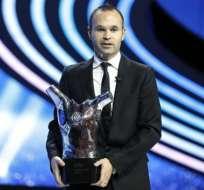 Iniesta, elegido mejor jugador en Europa 2011-12