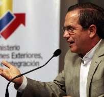 Cancillería rectificó información sobre salida de Diego Borja