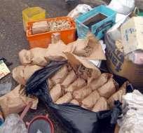 Policía encontró drogas, camaretas y pólvora en una casa en Guayaquil