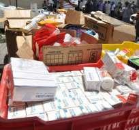 Policía de Aduanas descubrió laboratorio de fabricación de medicamentos