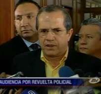 Patiño dio su versión en audiencia de policías acusados de rebelión