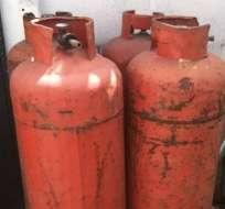 Decomisan tanques de gas doméstico a locales comerciales de Los Ríos