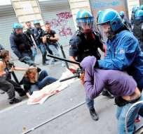 Protestas estudiantiles en Italia contra los recortes del Gobierno de Monti