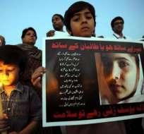 Protestas se registran por niña activista tiroteada en Pakistán