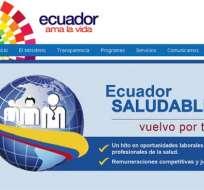 Ministerio de Salud repatriará a médicos ecuatorianos