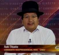 Auki Tituaña: Alianza con Lasso es para fortalecer la democracia