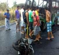 Murieron tres personas en accidente de tránsito en Esmeraldas