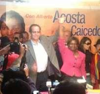 Marcia Caicedo es la compañera de fórmula de Alberto Acosta
