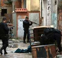 Policía brasileña mata a seis personas en operaciones en favelas de Río