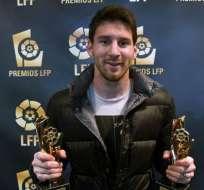 Messi 'orgulloso' por su cuarta elección como mejor jugador y delantero