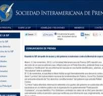 SIP repudia atropello de juez y Gobierno contra libertad expresión