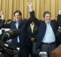 Binomio Lasso-Solines inscribió su candidatura