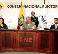 CNE aprobó a los binomios Noboa-Azín y Correa-Glas