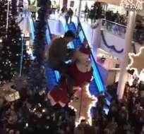 Papá Noel tuvo que ser salvado por militares en Londres