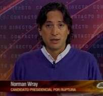 Wray: Nuestra propuesta va más allá de la campaña comunicacional