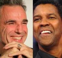 Daniel Day-Lewis y Denzel Washington, nominados al Oscar para mejor actor