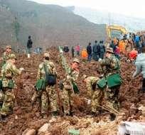 Al menos 39 muertos en una avalancha en el suroeste de China