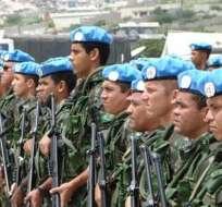 Ecuador envía un nuevo contingente de cascos azules a Haití