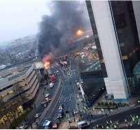 Dos muertos al estrellarse un helicóptero contra un edificio en Londres