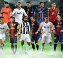 Cuatro jugadores del Barça y cuatro del Real Madrid en el once del año de la UEFA