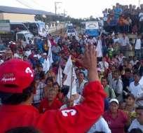 Candidatos recorrieron diferentes provincias dentro de sus campañas