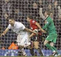 Manchester United del Antonio Valencia empató a 1 ante el Tottenham