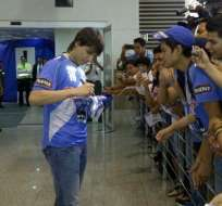 Pablo Zeballos ya llegó a Guayaquil
