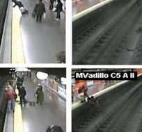 Policía español se convierte en héroe al salvar a mujer que cayó al Metro