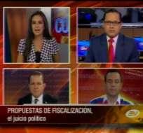 Debate con Guillermo Celi y Luigi García, candidatos a asambleístas