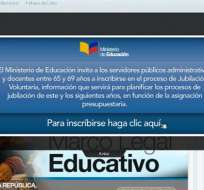 Sitio web del Ministerio de Educación presenta falencias para maestros que buscan jubilarse